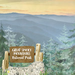 Scrapbook Customs - United States National Parks Collection - 12 x 12 Double Sided Paper - Watercolor - Great Smoky Mountains