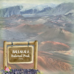 Scrapbook Customs - United States National Parks Collection - 12 x 12 Double Sided Paper - Watercolor - Haleakala