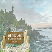 Scrapbook Customs - United States National Parks Collection - 12 x 12 Double Sided Paper - Watercolor - Isle Royale