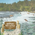 Scrapbook Customs - United States National Parks Collection - 12 x 12 Double Sided Paper - Watercolor - Katmai