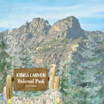 Scrapbook Customs - United States National Parks Collection - 12 x 12 Double Sided Paper - Watercolor - Kings Canyon