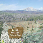Scrapbook Customs - United States National Parks Collection - 12 x 12 Double Sided Paper - Watercolor - Lassen Volcanic