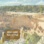 Scrapbook Customs - United States National Parks Collection - 12 x 12 Double Sided Paper - Watercolor - Mesa Verde