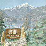 Scrapbook Customs - United States National Parks Collection - 12 x 12 Double Sided Paper - Watercolor - North Cascades