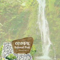Scrapbook Customs - United States National Parks Collection - 12 x 12 Double Sided Paper - Watercolor - Olympic