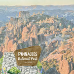 Scrapbook Customs - United States National Parks Collection - 12 x 12 Double Sided Paper - Watercolor - Pinnacles