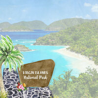 Scrapbook Customs - United States National Parks Collection - 12 x 12 Double Sided Paper - Watercolor - Virgin Islands