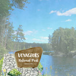 Scrapbook Customs - United States National Parks Collection - 12 x 12 Double Sided Paper - Watercolor - Voyageurs