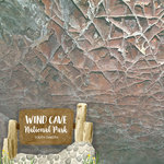 Scrapbook Customs - United States National Parks Collection - 12 x 12 Double Sided Paper - Watercolor - Wind Cave