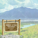 Scrapbook Customs - United States National Parks Collection - 12 x 12 Double Sided Paper - Watercolor - Wrangell - St. Elias