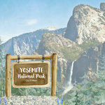 Scrapbook Customs - United States National Parks Collection - 12 x 12 Double Sided Paper - Watercolor - Yosemite