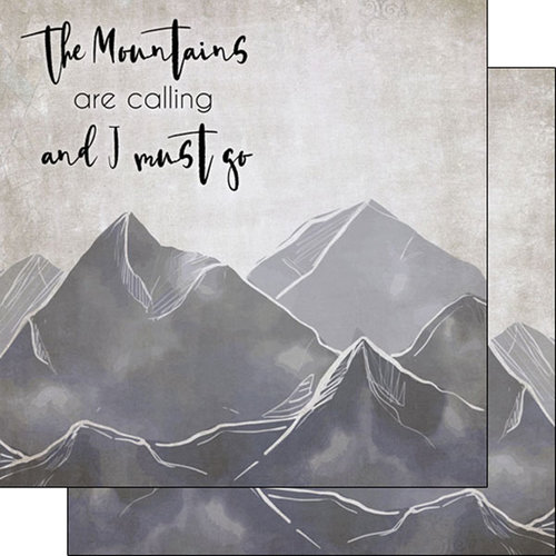 Scrapbook Customs - United States National Parks Collection - 12 x 12 Double Sided Paper - Mountains Calling Left and Right
