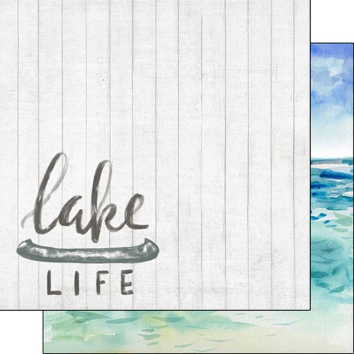Scrapbook Customs - United States National Parks Collection - 12 x 12 Double Sided Paper - Lake Life and Lake