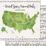 Scrapbook Customs - United States National Parks Collection - 12 x 12 Double Sided Paper - Adventure Awaits