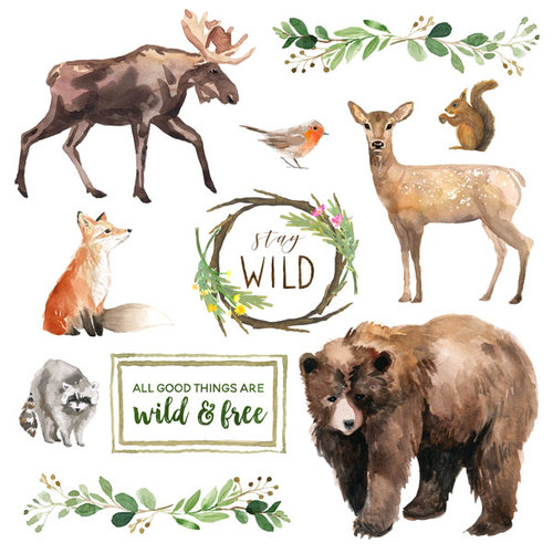 Scrapbook Customs - United States National Parks Collection - 12 x 12 Paper - Cut Out - Stay Wild