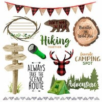 Scrapbook Customs - United States National Parks Collection - 12 x 12 Paper - Cut Out - Camping Things 2