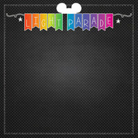 Scrapbook Customs - Magical Collection - 12 x 12 Double Sided Paper - Neon Light Parade
