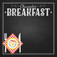 Scrapbook Customs - Magical Collection - 12 x 12 Double Sided Paper - Character Breakfast Plate