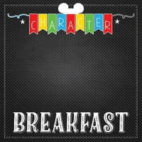 Scrapbook Customs - Magical Collection - 12 x 12 Double Sided Paper - Character Breakfast Banner