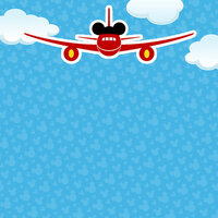 Scrapbook Customs - Magical Collection - 12 x 12 Double Sided Paper - Magical Airplane