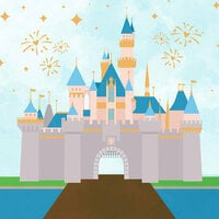 Scrapbook Customs - Magical Collection - 12 x 12 Double Sided Paper - Mouse House