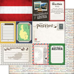 Scrapbook Customs - Travel Photo Journaling Collection - 12 x 12 Double Sided Paper - Austria