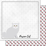 Scrapbook Customs - I Love My Cat Collection - 12 x 12 Double Sided Paper - Persian - Breed