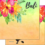 Scrapbook Customs - Getaway Collection - 12 x 12 Double Sided Paper - Bali Getaway