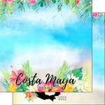 Scrapbook Customs - Getaway Collection - 12 x 12 Double Sided Paper - Costa Maya Getaway