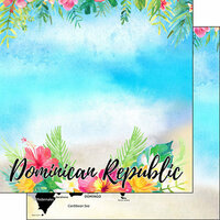 Scrapbook Customs - Getaway Collection - 12 x 12 Double Sided Paper - Dominican Republic Getaway