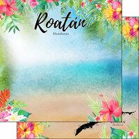 Scrapbook Customs - Getaway Collection - 12 x 12 Double Sided Paper - Roatan, Honduras Getaway