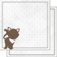 Scrapbook Customs - Cat Lovers Collection - 12 x 12 Double Sided Paper - Brown Generic Cat
