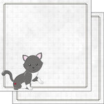 Scrapbook Customs - Cat Lovers Collection - 12 x 12 Double Sided Paper - Grey Generic Cat