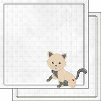 Scrapbook Customs - Cat Lovers Collection - 12 x 12 Double Sided Paper - Tan Generic Cat