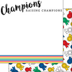 Scrapbook Customs - FFA Collection - 12 x 12 Double Sided Paper - Farm Champions