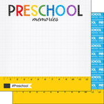 Scrapbook Customs - School Rulers Collection - 12 x 12 Double Sided Paper - Preschool