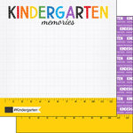 Scrapbook Customs - School Rulers Collection - 12 x 12 Double Sided Paper - Kindergarten