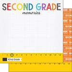 Scrapbook Customs - School Rulers Collection - 12 x 12 Double Sided Paper - 2nd Grade