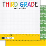 Scrapbook Customs - School Rulers Collection - 12 x 12 Double Sided Paper - 3rd Grade