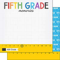 Scrapbook Customs - School Rulers Collection - 12 x 12 Double Sided Paper - 5th Grade