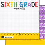 Scrapbook Customs - School Rulers Collection - 12 x 12 Double Sided Paper - 6th Grade
