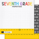 Scrapbook Customs - School Rulers Collection - 12 x 12 Double Sided Paper - 7th Grade