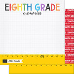 Scrapbook Customs - School Rulers Collection - 12 x 12 Double Sided Paper - 8th Grade