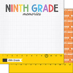 Scrapbook Customs - School Rulers Collection - 12 x 12 Double Sided Paper - 9th Grade