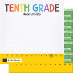 Scrapbook Customs - School Rulers Collection - 12 x 12 Double Sided Paper - 10th Grade