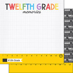 Scrapbook Customs - School Rulers Collection - 12 x 12 Double Sided Paper - 12th Grade