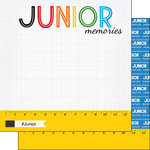 Scrapbook Customs - School Rulers Collection - 12 x 12 Double Sided Paper - Junior