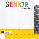 Scrapbook Customs - School Rulers Collection - 12 x 12 Double Sided Paper - Senior