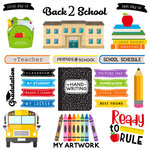 Scrapbook Customs - School Rulers Collection - 12 x 12 Paper - School Ruler Cut Out