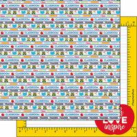 Scrapbook Customs - 12 x 12 Double Sided Paper - Teacher Images